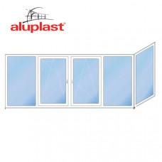 Г-образный балкон Aluplast