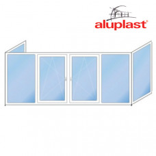 П образный балкон Aluplast