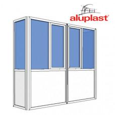 Балкон Aluplast полностью
