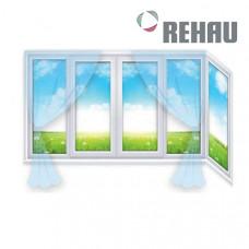 Г образный балкон Rehau
