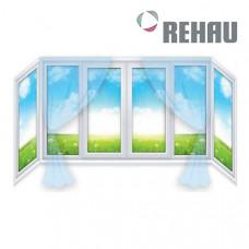 П образный балкон Rehau