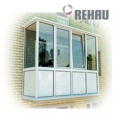 Балкон Rehau полностью