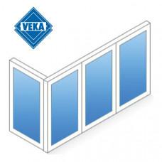 Г-образный балкон Veka