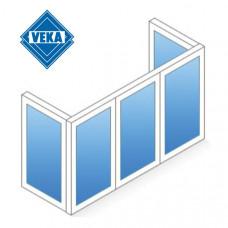 П-образный балкон Veka
