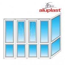 Французский балкон Aluplast  Г-образный