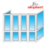 Французский балкон Aluplast П-образный