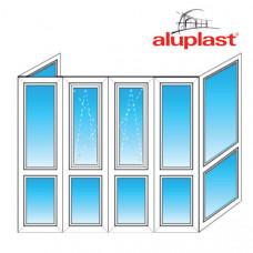 Французский балкон Aluplast - П образный