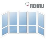 Французский балкон Rehau П-образный