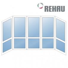 Французский балкон Rehau - П образный