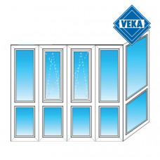Французский балкон Veka - Г образный