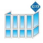Французский балкон Veka П-образный