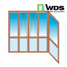 Французский балкон WDS Г-образный