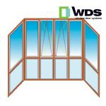 Французский балкон WDS П-образный