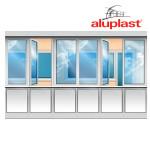 Лоджия Aluplast, низ - сэндвич панели