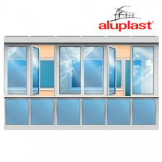 Лоджия Aluplast, низ - стеклопакет