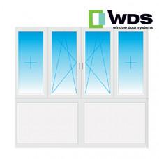 Лоджия WDS, низ - сэндвич панели