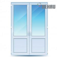 Двустворчатые двери Rehau