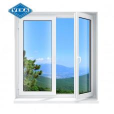 Двухстворчатое окно Veka