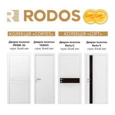Акция на двери RODOS в краске белый матовый