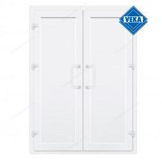 Двустворчатые двери Veka без остекления и перегородки