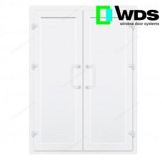 Двухстворчатые двери WDS без остекления и перегородки