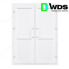 Двухстворчатые двери WDS без остекления с перегородкой